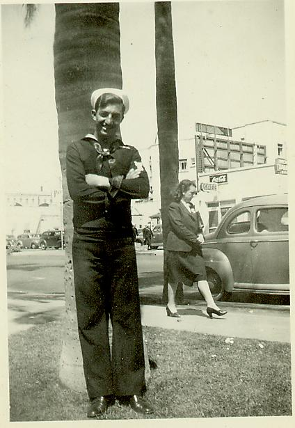 The War Years.  Johnie, 1942. San Diego.  Click for full sized view.